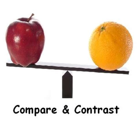 2 Formats for Use in the Compare-Contrast Essay